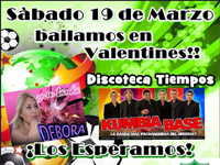 afiche baile valentines